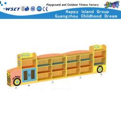 BUS 모델 장난감 Kindergarten 목재 가구가 있는 나무 목재용 가구 역할극 선반(HC-3101)