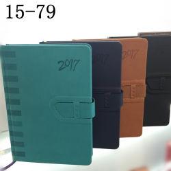 2017 Journal à couverture rigide en cuir pour ordinateur portable de PU