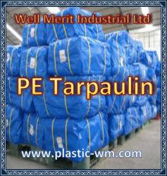 PEの防水シート、テント材料、防水屋外のプラスチックカバー、青い多防水シート、HDPEファブリック