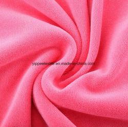100%Tecido de veludo de malha de algodão