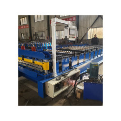 Gewölbtes Fliese-Baumaterial galvanisierte die Stahlblech-Dach-Rolle, die Maschine bildet