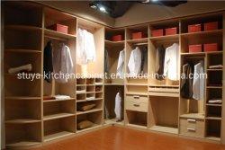 고급 목재 오픈 모던 베드룸 옷장 인테리어 디자인, 벽장 침실 가구 세트