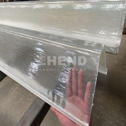 Plástico reforzado con fibra de plástico de fibra de vidrio Inear GRP zanja de desagüe para el sistema hidropónico ganado