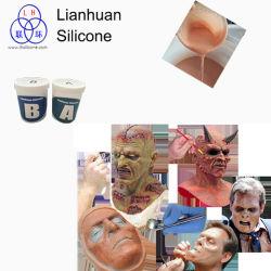 Pele de borracha de silicone líquido seguro fazer arte Mask Cor Personalizada de Fábrica de silício