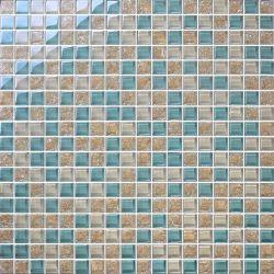 La Chine fournisseur prix bon marché cristal mosaïque des revêtements de sol en mosaïque de verre