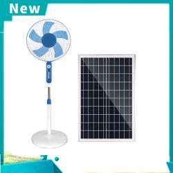 2020 La Energía Solar el ventilador de pie ventilador con la iluminación del panel solar de 20W.