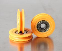 El poliuretano U-Groove, teniendo la rueda, , V-Groove, H-Groove puerta corrediza, rodamientos, cojinetes de la puerta corredera, ruedas de cojinete de la Puerta de ducha