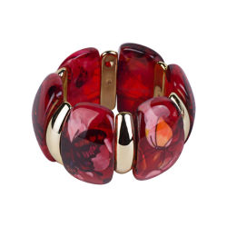 2020の新しい卸し売りアクリル樹脂の女性宝石類のブレスレットの腕輪の調査結果