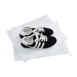 Polvo de cordón no tejido Bolsa Zapata, mayorista reciclable bolsa reutilizable de lienzo de algodón, de promoción comercial de bolsa, bolsa de regalo
