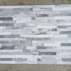 Серый цвет Split поверхности листа из шпона из природного камня, Slate культуры камня