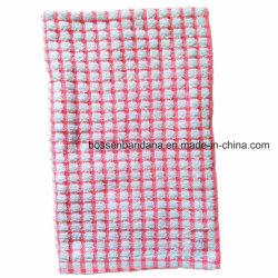 Fabrik Soem-Erzeugnis-Zoll überprüft Streifen-Jacquardwebstuhl-Terry-rosafarbener Tee-Tuch-Küche-Tuch-Baumwolle