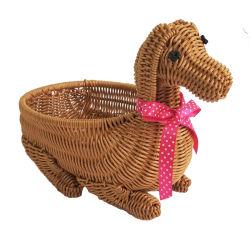Handgemachtes dekoratives Speicherweidenrattan-Hundekorb