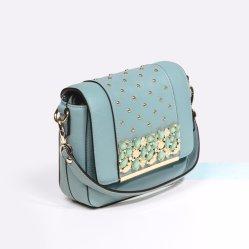 Designer de fábrica de Guangzhou Popular de alta qualidade Pearl Gemstone Senhoras Bag