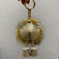 Keychain Bag Charm Little Bear를 위한 High 도매 Quality Large Fox Fur Ball