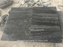 Het gevlamde Grijze Bedekken van Nero Santiago van het Graniet voor de Openlucht en Weg van de Tuin