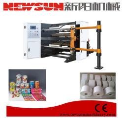 가득 차있는 자동적인 고속 BOPP 애완 동물 PVC 필름 서류상 째는 기계
