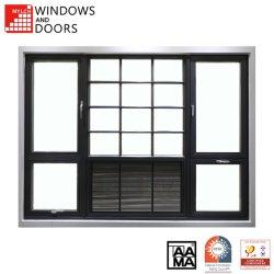Doppio vetro composito personalizzabile/tenda di alluminio di legno lustrata dell'alluminio di Hurrican Eimpac/della stoffa per tendine/fare scorrere la finestra di Louve Tilt&Turn con il certificato di Aama/Nfrc