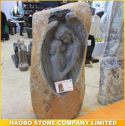 Le basalte Stone Angel sculpté Cimetière commémoratif de la conception Memorial