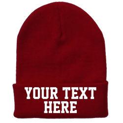 Яркие теплые трикотажные акриловые Beanie Red Hat винты с головкой