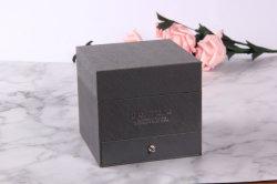 ロゴのカスタム灰色の光沢がある浮彫りにされたペーパー16ローズのギフト用の箱