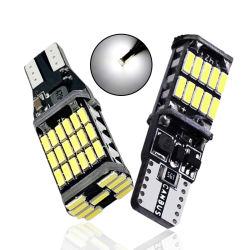 مصباح LED T15 1x W16 واط T10 W5w ضوء إشارة LED CANbus لا يوجد خطأ High Power White Super Bright 4014 SMD مصابيح خلفية للسيارة بقدرة 12 فولت تيار مستمر