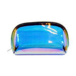 Geleverd door Manufacturerlaser nieuwe transparante Dazzle Kleur PVC transparant Cosmetisch TPU-tas