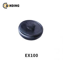 Spurverstellung für Hitachi EX100 EX100-2 EX100-3 EX100-5 Bagger Spur Einstellrad, Vordere Umlenkrolle