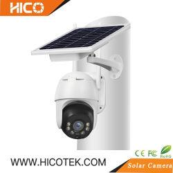 Batterie étanche extérieur panneau solaire WiFi 3g 4g 5g sans fil IP caméra dôme PTZ vidéo de surveillance de la sécurité du système de vidéosurveillance pour Garden Farm pleine couleur