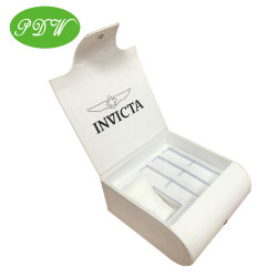 Contenitore di vigilanze di cuoio dell'unità di elaborazione di bianco elegante con il contenitore di regalo del pacchetto del cinturino di vigilanza tre per la donna