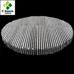 Pour le tour de distillation plaque perforée de métal ondulé d'emballage structuré