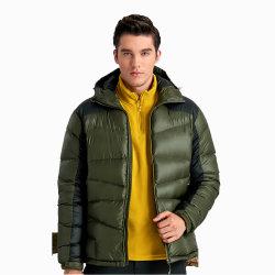 Vestuário de homens Extra espesso tecido de nylon jaqueta de ganso