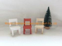 손으로 직접 그린 DIY 나무 미니어처 의자