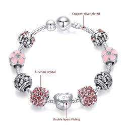 Usine de gros de bijoux en argent 925 Sterling Charms femmes Bracelets Bangles