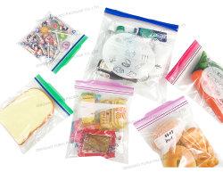 Venda livre de BPA Palstic Biodegradáveis Dobra Flip Sanduíche Superior Quart Galão Snack LDPE arcas congelado duplo bloqueio Zip armazenagem de géneros alimentícios Embalagem Zipper Bag