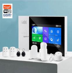 La pantalla táctil WiFi inteligente sistema de alarma antirrobo Anti GSM con detectores