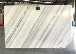 Китайский полированный Лебединое озеро белого мрамора книги соответствует слоев REST плитка для пола на стене Clading