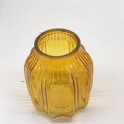 زخارف ملونة من نوع الذهب Vase لزينة الزفاف