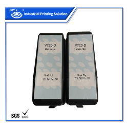 Cartucho de tinta de impresora de inyección de tinta Videojet Compatible V720-D Maquillaje solvente con SGS RoHS y certificación de la MSDS