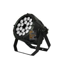 방수 세척 무대 조명 18X10W LED PAR CAN 아웃도어 라이브 표시