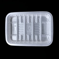 مواد PP قم بإزالة صينيات الطعام المجمدة البلاستيكية المربعة التي يمكن التخلص منها