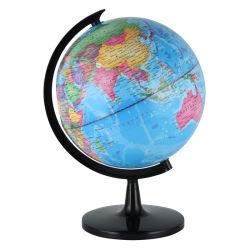 プラスチック立場が付いている世界地図が付いている10インチのデスクトップの教授の地球