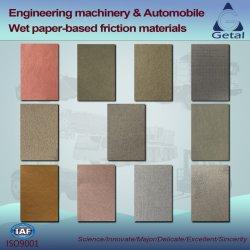 Materiales de Fricción húmeda Paper-Based personalizada Ingeniero en maquinaria y del automóvil y motocicleta