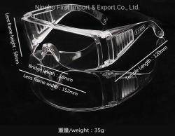 Gafas de plástico transparente PC trabajador gafas de seguridad