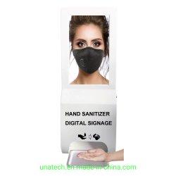 Mano dispensador automático de desinfección de suelo de pared/Comunicación Digital Interactiva Pantalla de publicidad