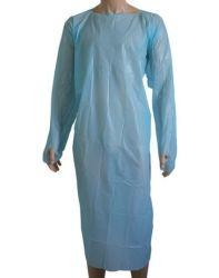 袖が付いている使い捨て可能なCPEのエプロン