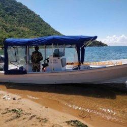 Liya 7,6m barco marino mejor barco de pesca Barcos en Venta Panga de fibra de vidrio