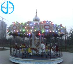 Giostre carosello per bambini da 16 posti, giro di andata e ritorno Merry Go, giostre per bambini in carosello in vendita