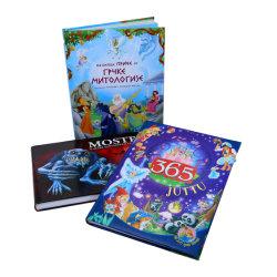 Les enfants à couverture rigide pleine couleur livre de contes pour les kits avec le cas de l'impression