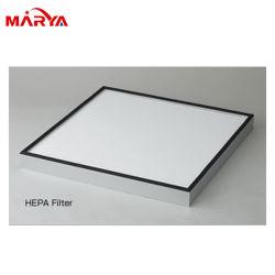 سعر تنافسي إطار بلاستيكي صغير الحجم ألياف ضوئية في صندوق V الصناعي مرشح الهواء HEPA من النوع الصلب للخلية H13