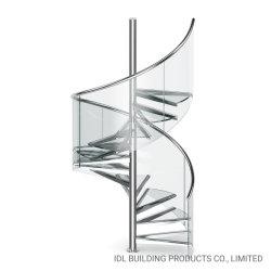 屋外用に 10% 割引カスタマイズ設計ステンレススチール製階段屋内用 螺旋階段 / モダンな階段 / ガラスの階段